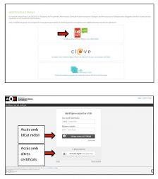 accés amb certificat digital