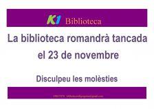Rètol Biblioteca