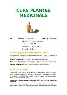 curs plantes medicinals